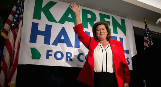 Victorious GOP candidate Karen Handel.  Getty Images