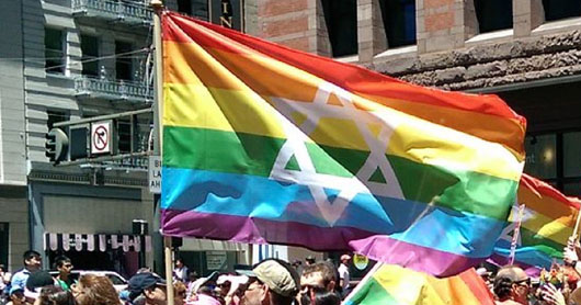 'Inclusive' gay pride march excludes women with Star of David pride flag