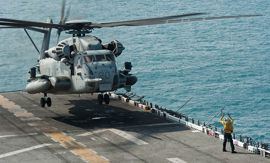 Iran boat beams laser at U.S. helicopter over Strait of Hormuz