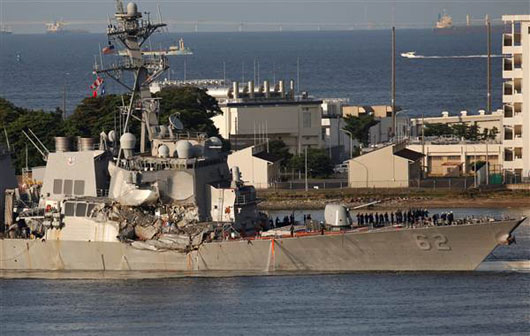 Report: Ship that hit the USS Fitzgerald was on autopilot; No crew on bridge?