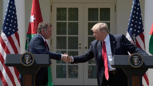 Jordan's king thanks Trump for help in 'containing' Temple Mount crisis