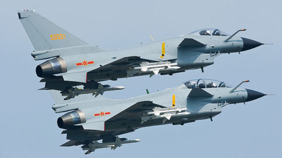Chinese fighters nearly caused collision with U.S. spy plane