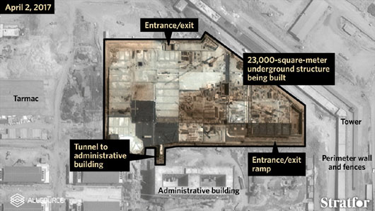 Satellite images reveal massive underground bunker at China's naval facility in Djibouti