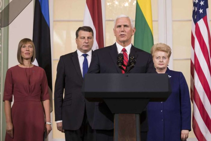 Pence: The U.S. will 'always stand' with Baltic nations