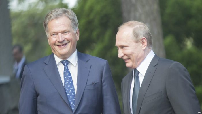 Putin travels to Finland for talks amid naval exercises