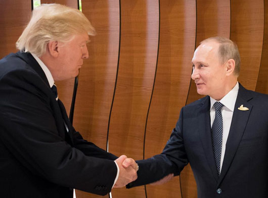 Brit journalists again beat U.S. rivals with cutting edge Trump-Putin body language analysis