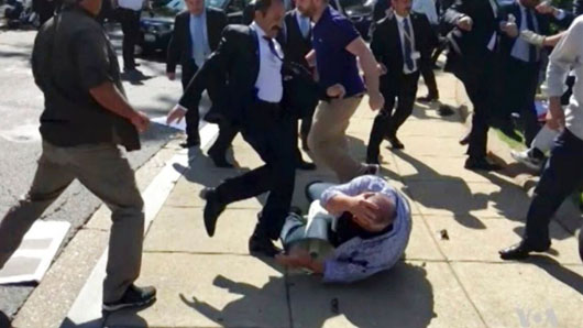 Turkish bodyguards charged in bloody embassy beatdown
