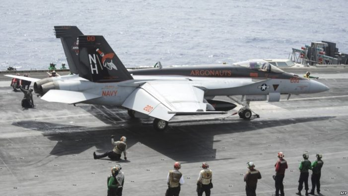 Iranian drone forces U.S. fighter to take 'evasive action,' while landing on carrier
