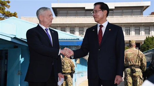 Mattis at the DMZ highlights difference between 2 Koreas: 'Our goal is not war'