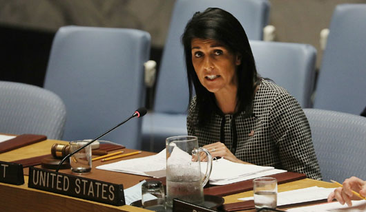 Haley urges UN to follow U.S. lead in confronting Iran's 'destructive' policy