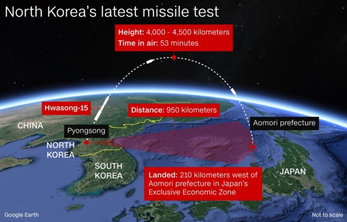 North Korea conducts most successful missile test yet; U.S. mum on how to  'take care of it'
