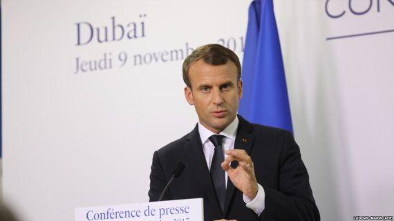 French president says Iran tied to Yemeni missile launch, calls for talks