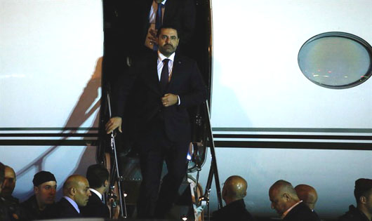 Lebanon's Hariri returns to Beirut 3 weeks after resigning in Riyadh