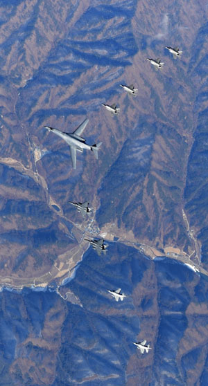 B-1B, F-22s join 'rapid response' Korean exercise in show of force