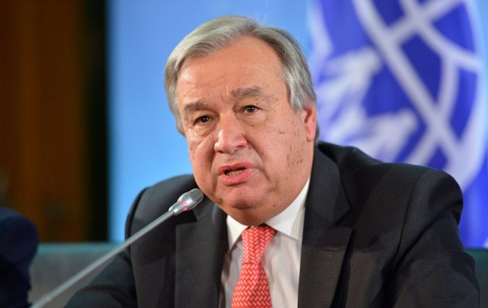 UN Secretary General calls for 'bold leadership' in a world facing 'calamity'