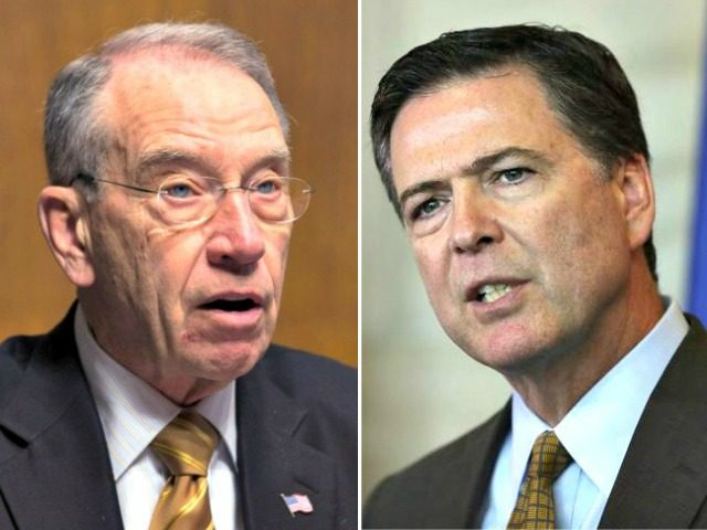 Sen. Grassley charges Comey leaked classified memos, demands answers from DOJ