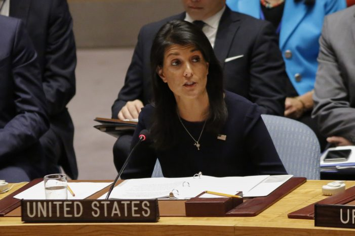 Nikki Haley: Russia 'complicit in Assad regime's atrocities'
