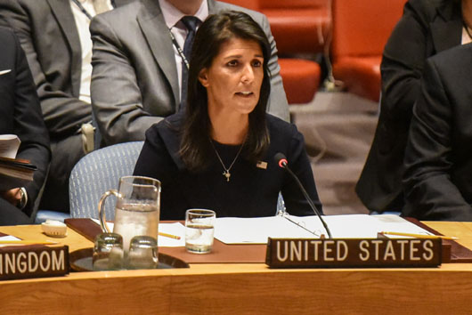 Haley hits Moscow after Iran gets 'pass' from UN on arms shipments to Houthis