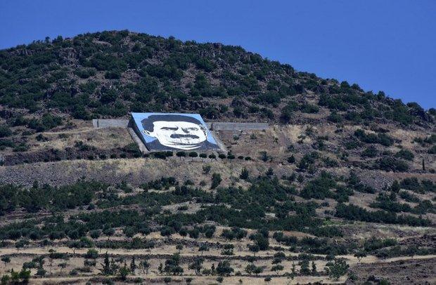 Turkish drone obliterates massive portrait of PKK's founder