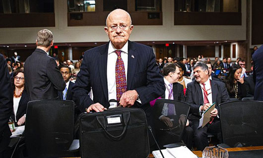 House Committee report finds Director of National Intelligence Clapper misled Congress