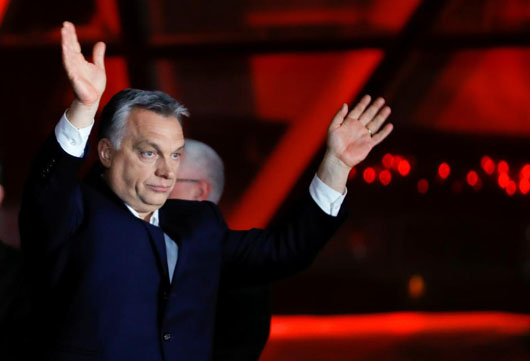 After landslide re-election win, Hungary's Orban takes aim at Soros