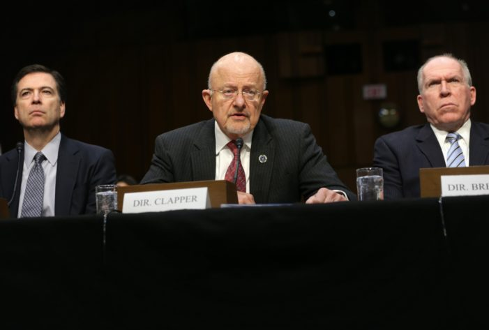 State of collusion with foreign powers: James Clapper, Donald MacLean, Benedict Arnold