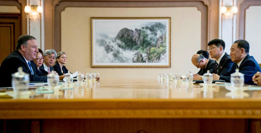 Back in the DPRK: Pompeo holds 3-hour session with Kim Yong-Chol, delivers gift