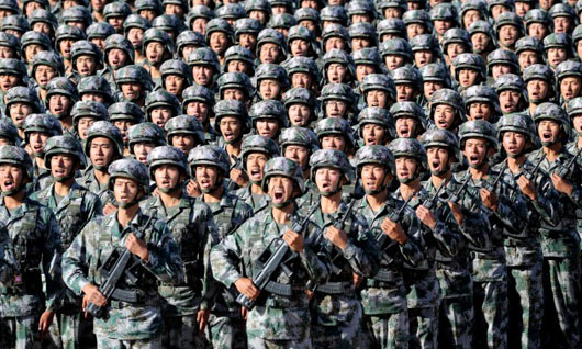 New China video fires up the troops: 'Peace behind me, war in front of me'