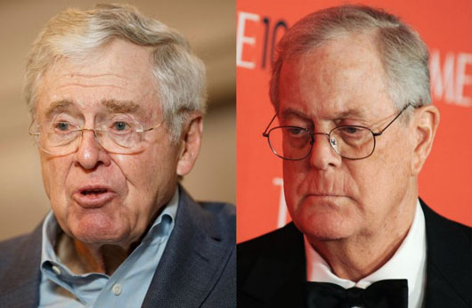 Trump deals with the Koch brothers' criticism in three tweets