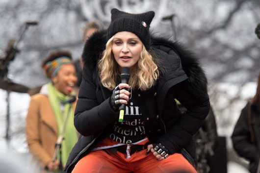 Madonna, who spoke of 'blowing up the White House,' moved to Portugal instead