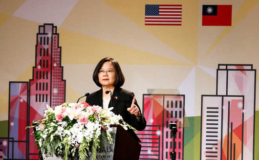 Taiwan president in L.A.: 'No one can obliterate Taiwan's existence'