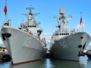 China PLA navy vessels.