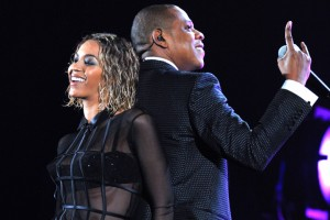 Beyonce and Jay Z at the Grammy Awards on Jan. 26. / Wireimage / NY Post
