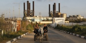 Gaza's sole power plant in Nusairat.  /Mohammed Abed/AFP/GettyImages