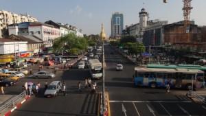 Street scene in Burma (Myanmar).