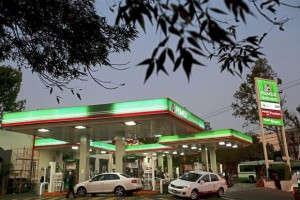 Pemex gas station in Mexico City.