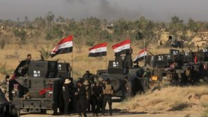 Iraqi forces prepare for an offensive into Fallujah on May 30. /AP