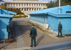 The showdown at the Koean DMZ in Panmunjom is in its seventh decade.