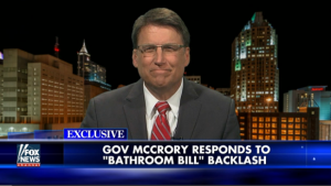 North Carolina Gov. Pat McCrory.