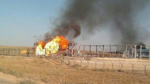 Explosion at Shaer gas field in Syria.