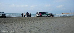 "Amir's blog lampoons Iranian life: ""The morality police van came to the beach and arrested a number of people. After getting stuck in the sand, everyone had to come out to push it out. It's the story of Iran."""