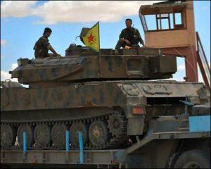 Kurdish YPG forces.