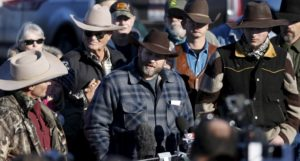 Ammon Bundy talks to the media at the Malheur National Wildlife Refuge near Burns, Oregon, on Jan. 8, 2016. /Reuters/Jim Urquhart
