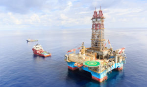 BP's offshore oil platform seen off the coast of Egypt. /BP photo
