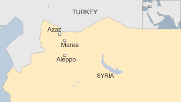U.S.-led coalition drops ammo to Syrian rebels fighting to stop ISIL advance in Aleppo province