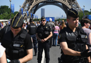 Security measures are seen ahead of the UEFA Euro 2016 at the Eiffel Tower | Shaun Botterill/Getty Images