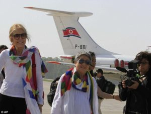 Gloria Steinem in North Korea.