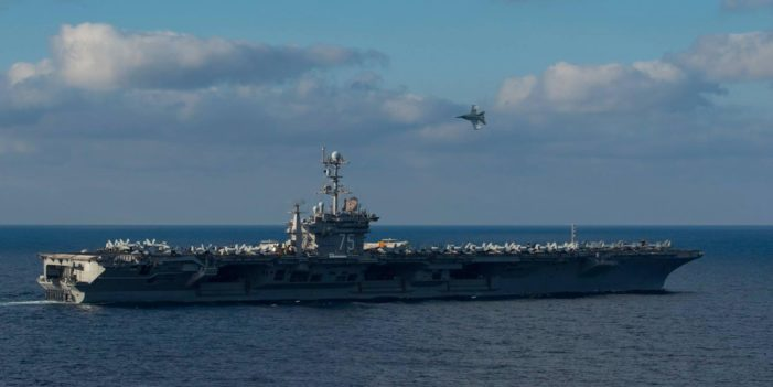 U.S. launches first strikes from Mediterranean carrier since 2003