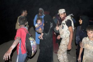 Iraqi forces helped civilians escape Fallujah.