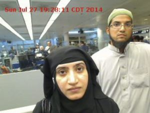 Syed Rizwan Farook, right, and Tashfeen Malik carried out the 2015 San Bernardino terror attack.